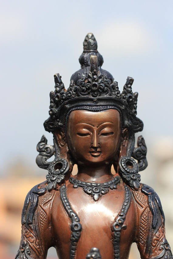 Aparmita Buddha Statue Antique Look