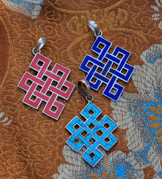 Love Knot Silver Pendants Tibetan Jewelry