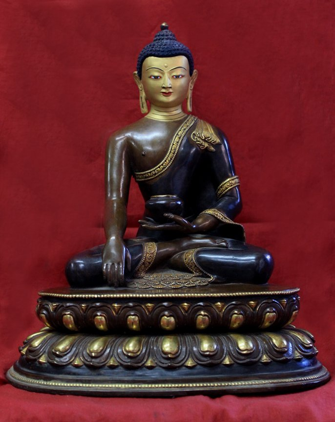 mini zen garden statues-shakyamuni buddha 12 inches tall