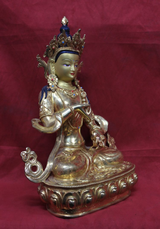 Vajrasattva statue full gold 36 21 13 side view 1
