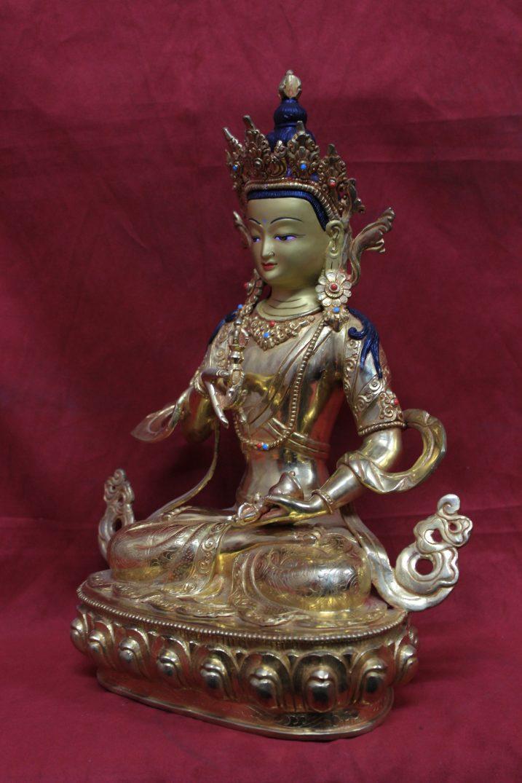 Vajrasattva statue full gold 36 21 13 cm side view 2