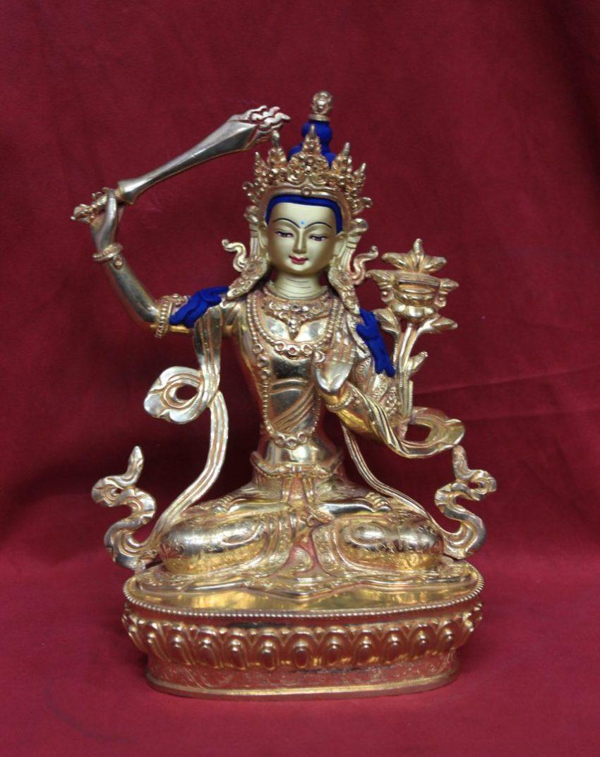Golden Buddha Statue Manjushri Statue
