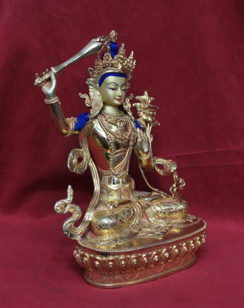 Golden Buddha Statue Manjushri face