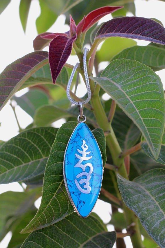 Bundle of 6 Tibetan om mantra pendant