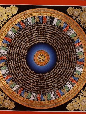 Om Mantra Tibetan Thangka