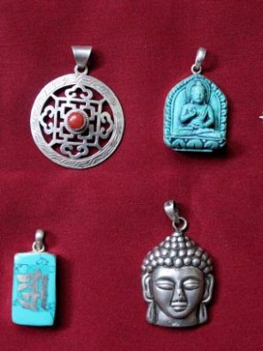 Tibetan Charms Pendants Bundle of six