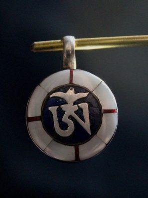 Tibetan Mantra om mani padme hum Pendant