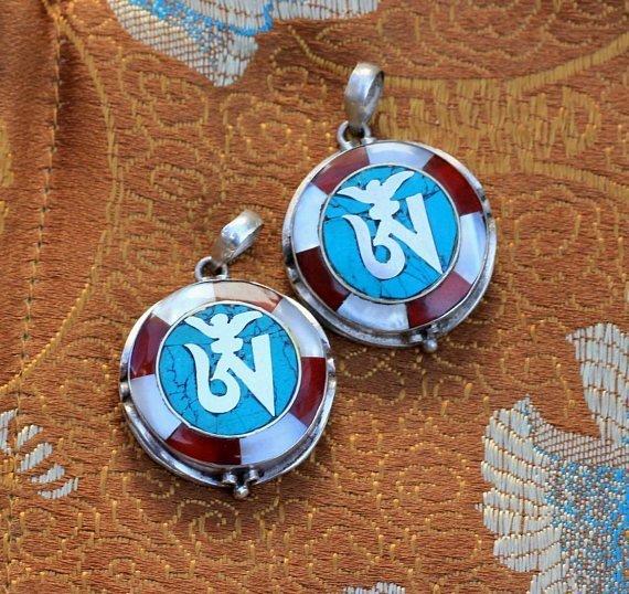 Tibetan Om Symbol Charms