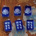 Tibetan om lotus symbol charms pendants