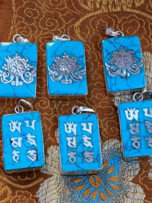 buddha lotus om mantra charms