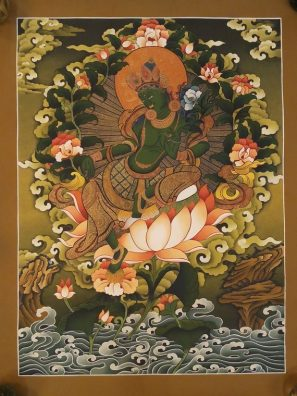 green tara newari thangka