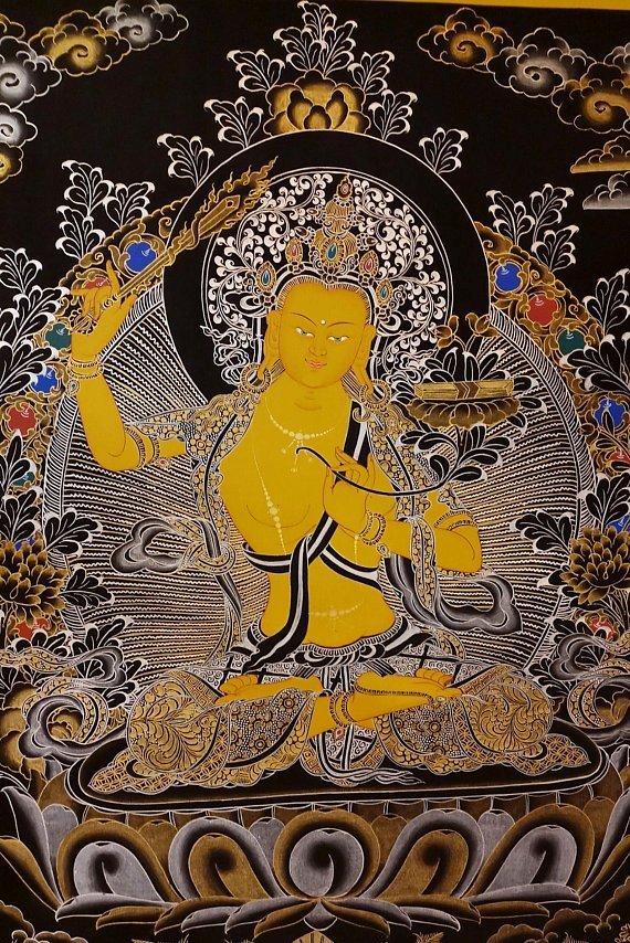 manjushri buddhist painting