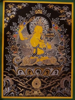 manjushri thangka painting