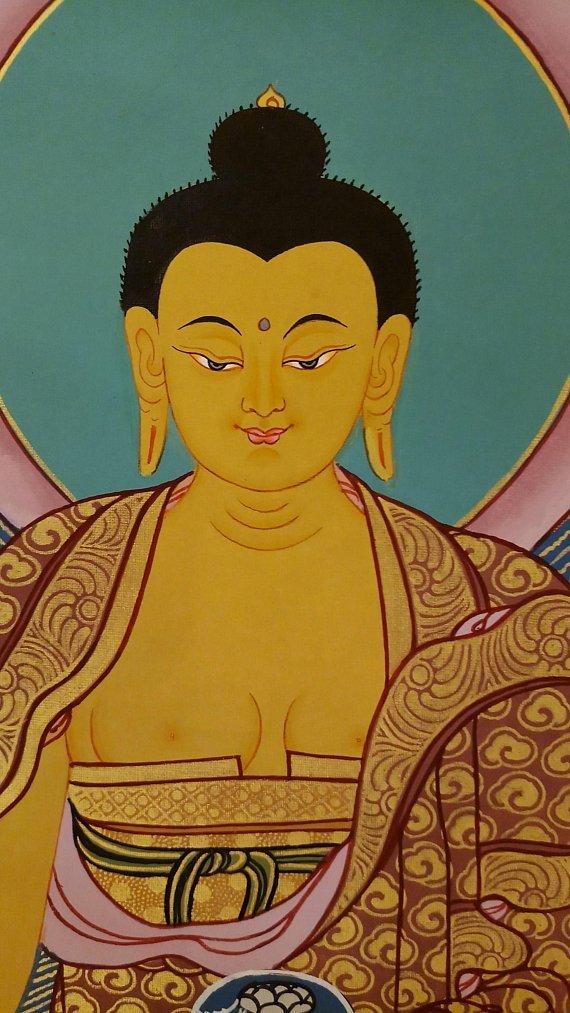 shakyamuni buddha thangka face