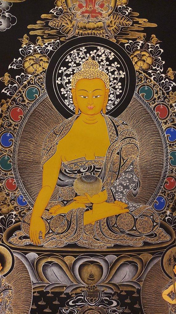 shakyamuni thangka buddhist painting