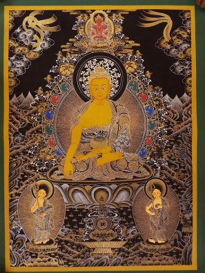shakyamuni thangka painting