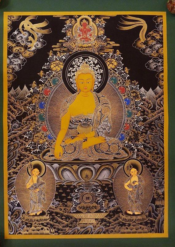 shakyamuni thangka painting