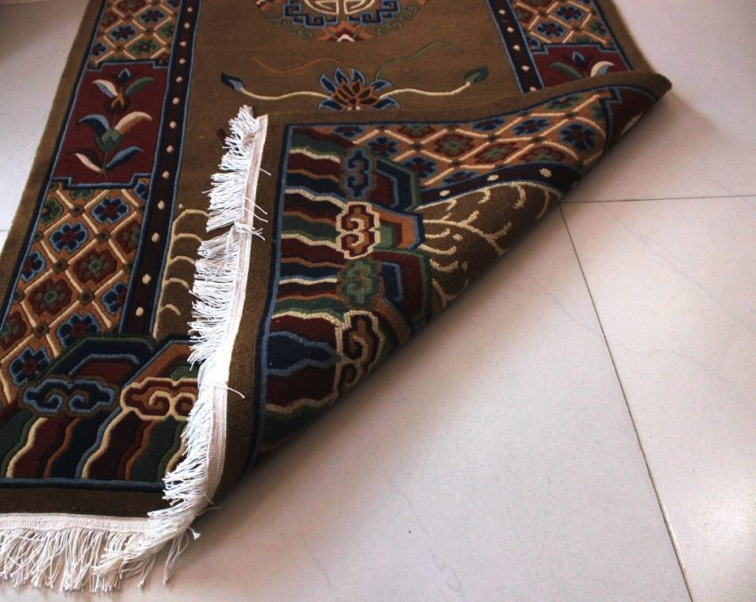 Tibetan Carpet Mandala Rug bottom