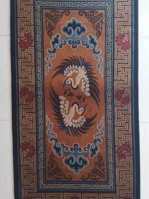 Tibetan Rug Bird Design vertical