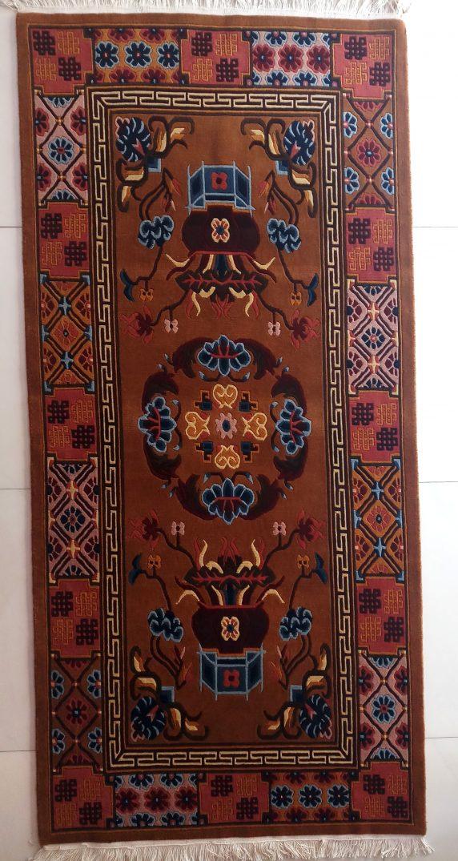 Tibetan rug mandala vertical