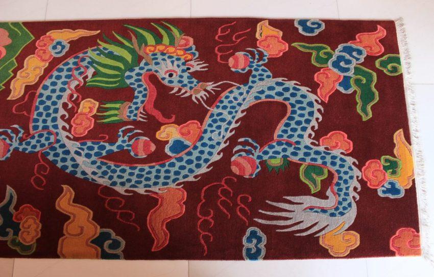 tibetan rug dragon
