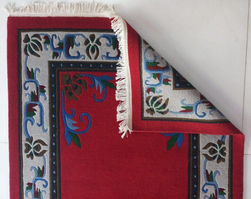 Tibetan flower mandala carpet backview