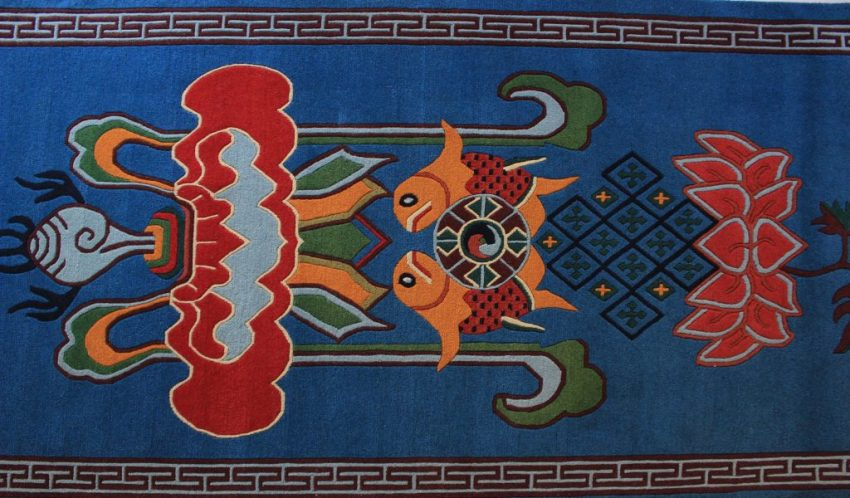 Tibetan Carpet Eight Auspicious rug