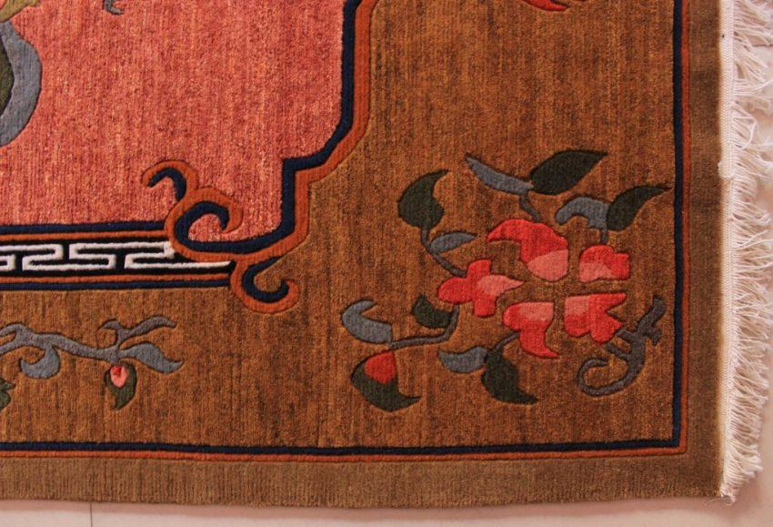 Tibetan Flower Carpet brown