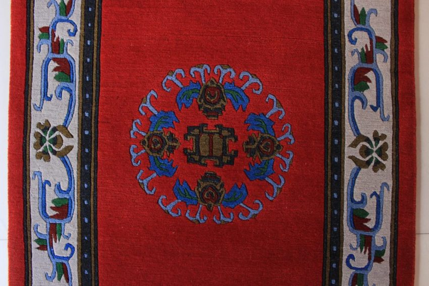 Tibetan Flower Mandala Carpet red