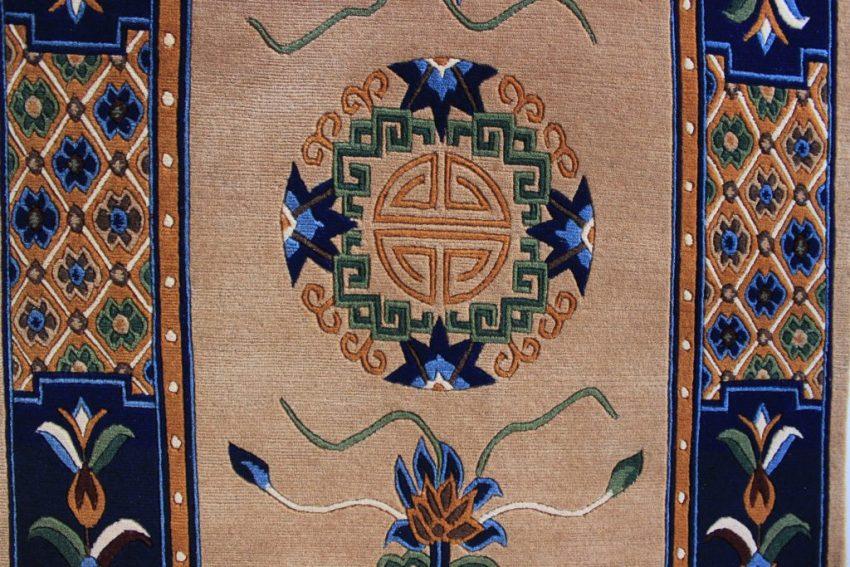 Tibetan mandala lotus carpet rug