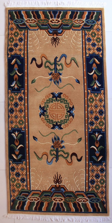 Tibetan mandala lotus carpet