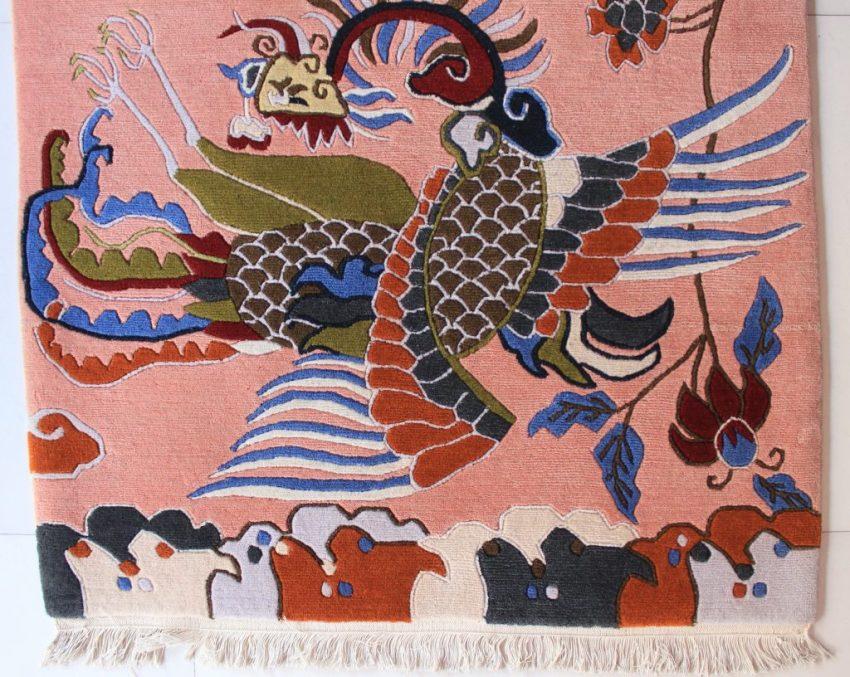 Tibetan rug dragon bird