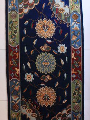 Tibetan rug flower blue