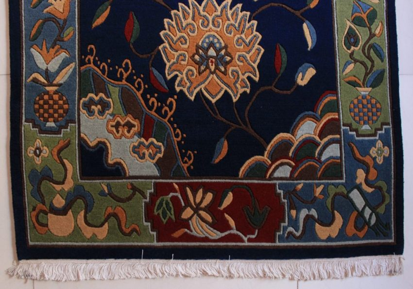 Tibetan rug flower blue2