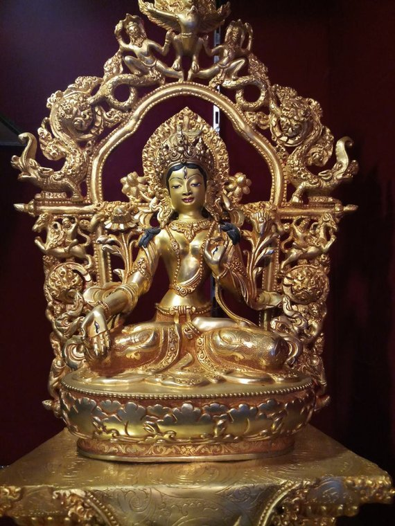 white tara gold statue zoom