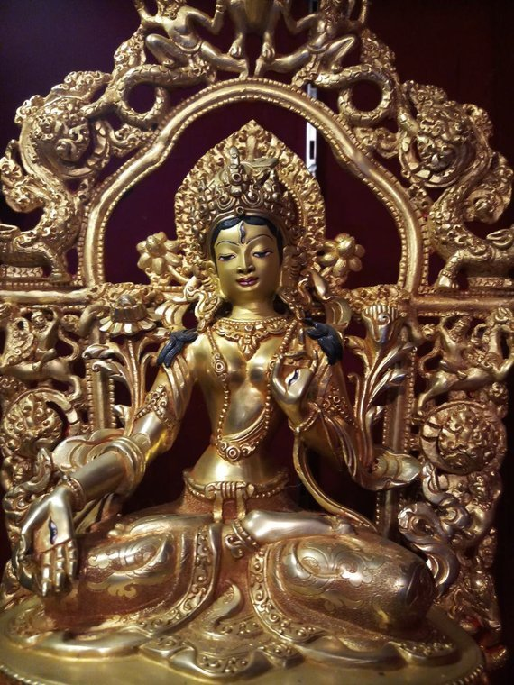 white tara meaning gold statue zoom1