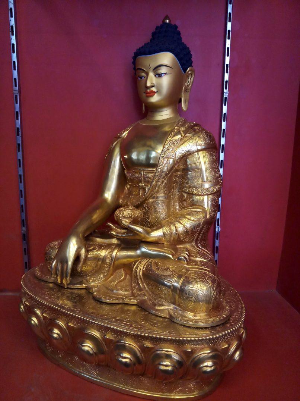 Shakyamuni Buddha Full gold side view 2