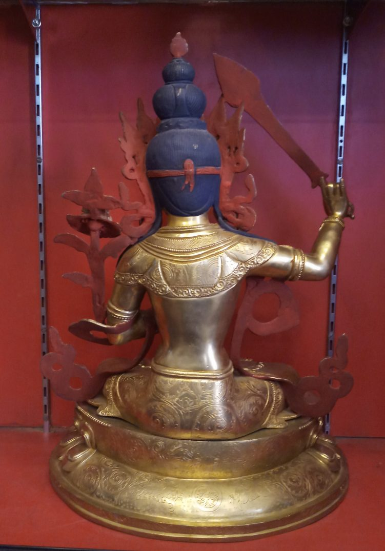 Manjushri Golden Statue back view