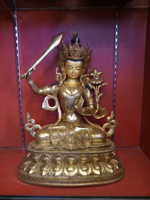 Manjushri Golden Statue