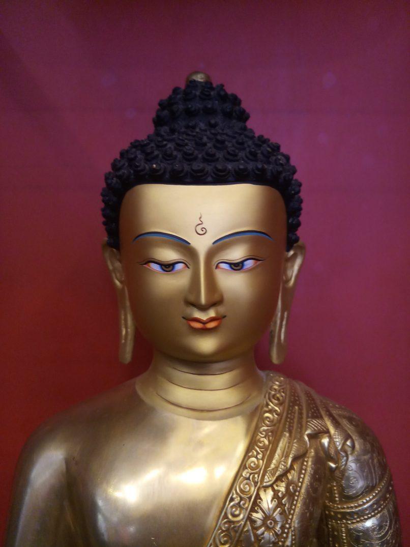 Medicine buddha statue full gold 18 inches face (2)