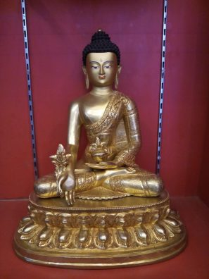 Medicine buddha statue full gold 18 inches full image1
