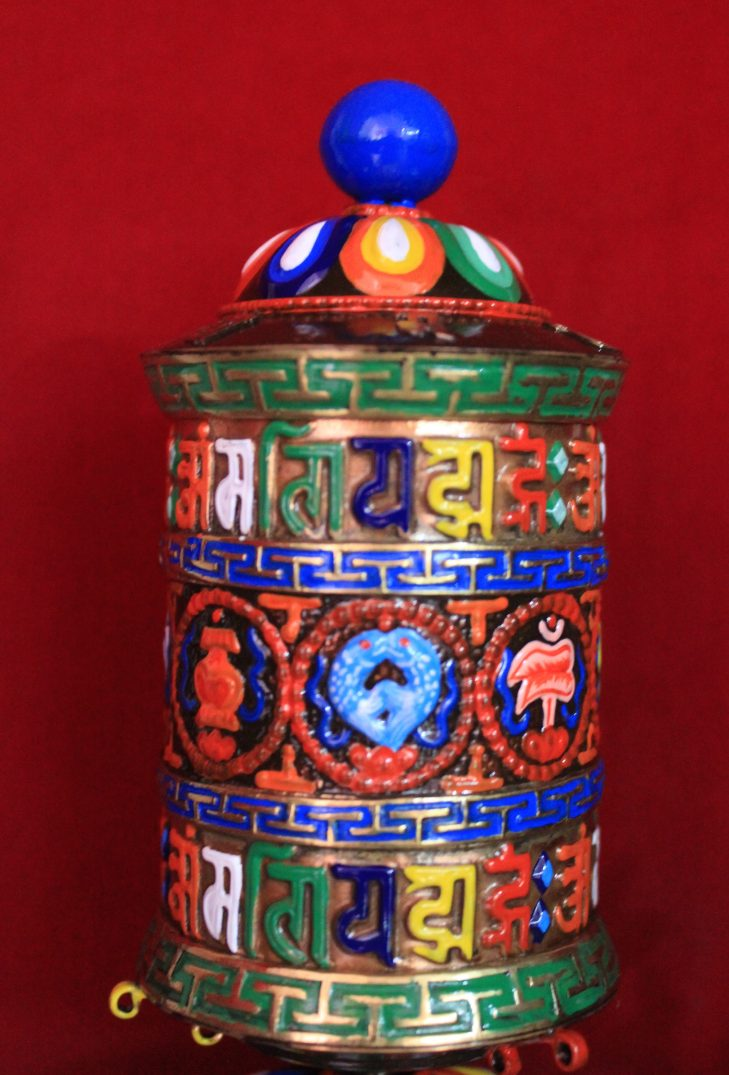 prayer wheel eight auspicious 6 inches 1