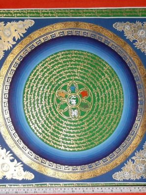 Tibetan Home Decor Mandala Thangka for spiritual gift