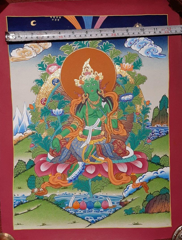 Green Tara Art Decor Painting