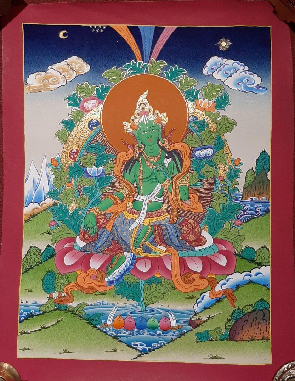 Green Tara Art Decor