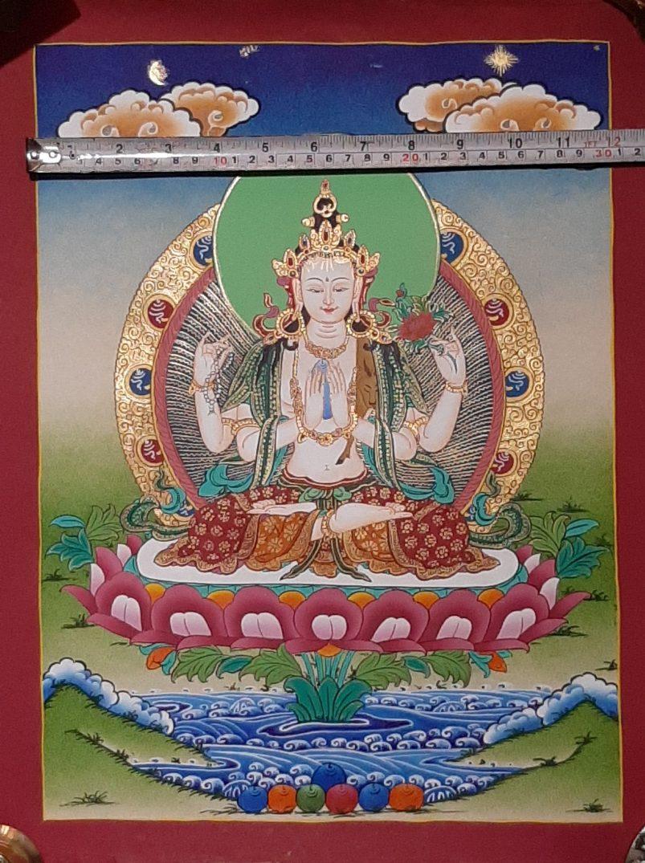 Tibetan Art Decor Chenrezig Thagnka for father's day