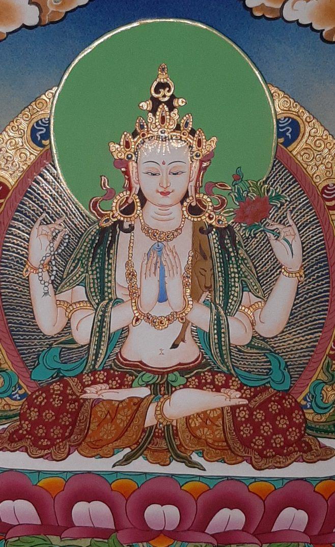 Tibetan Art Decor Chenrezig Thagnka for home decor