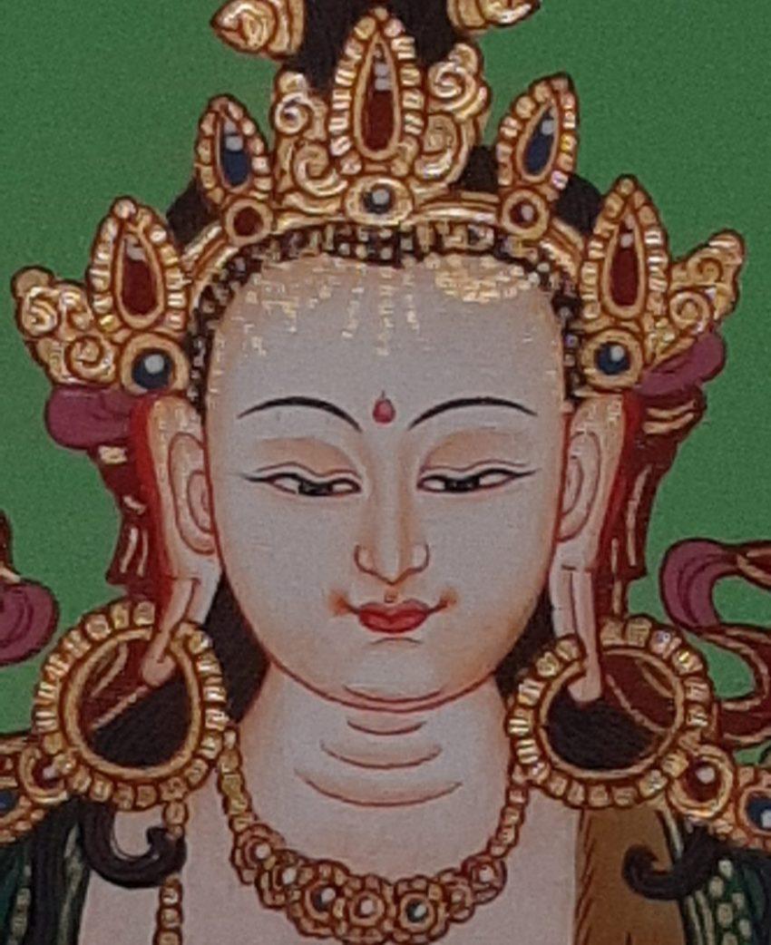 Tibetan Art Decor Chenrezig Thagnka for meditation