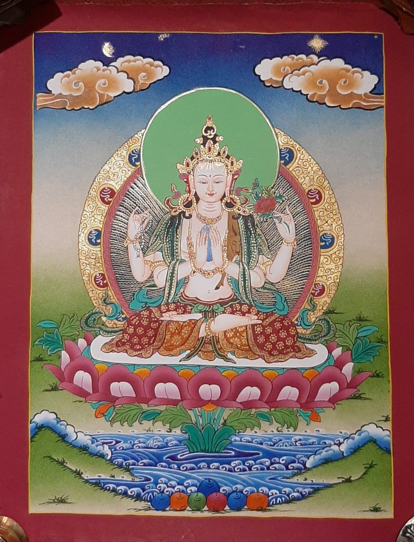 Tibetan Art Decor Chenrezig Thagnka paintings