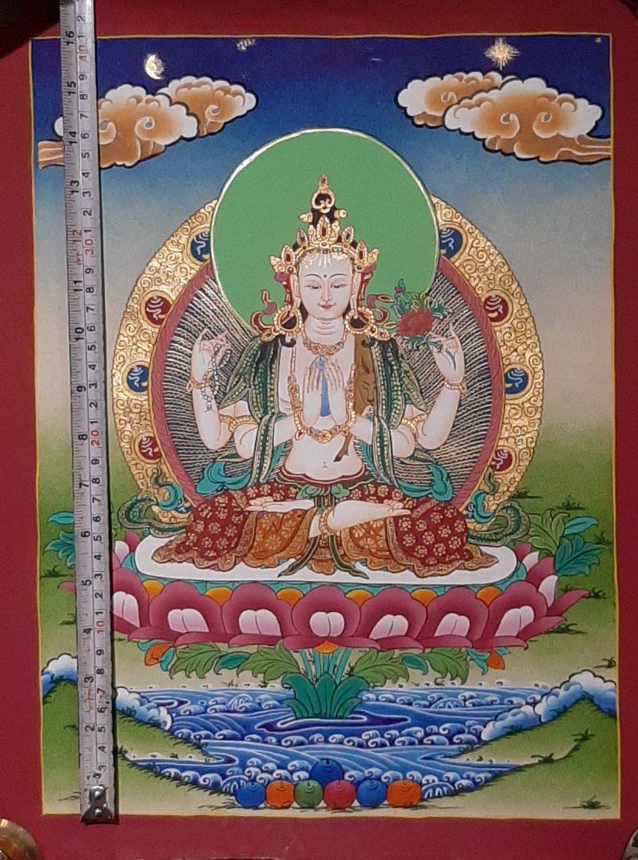 Tibetan Art Decor Chenrezig Thagnka sprititual gift
